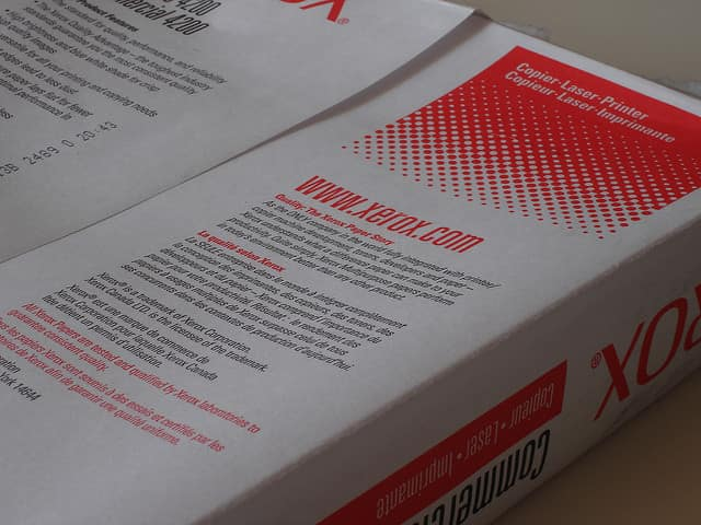 újrahasznosított fénymásolópapír